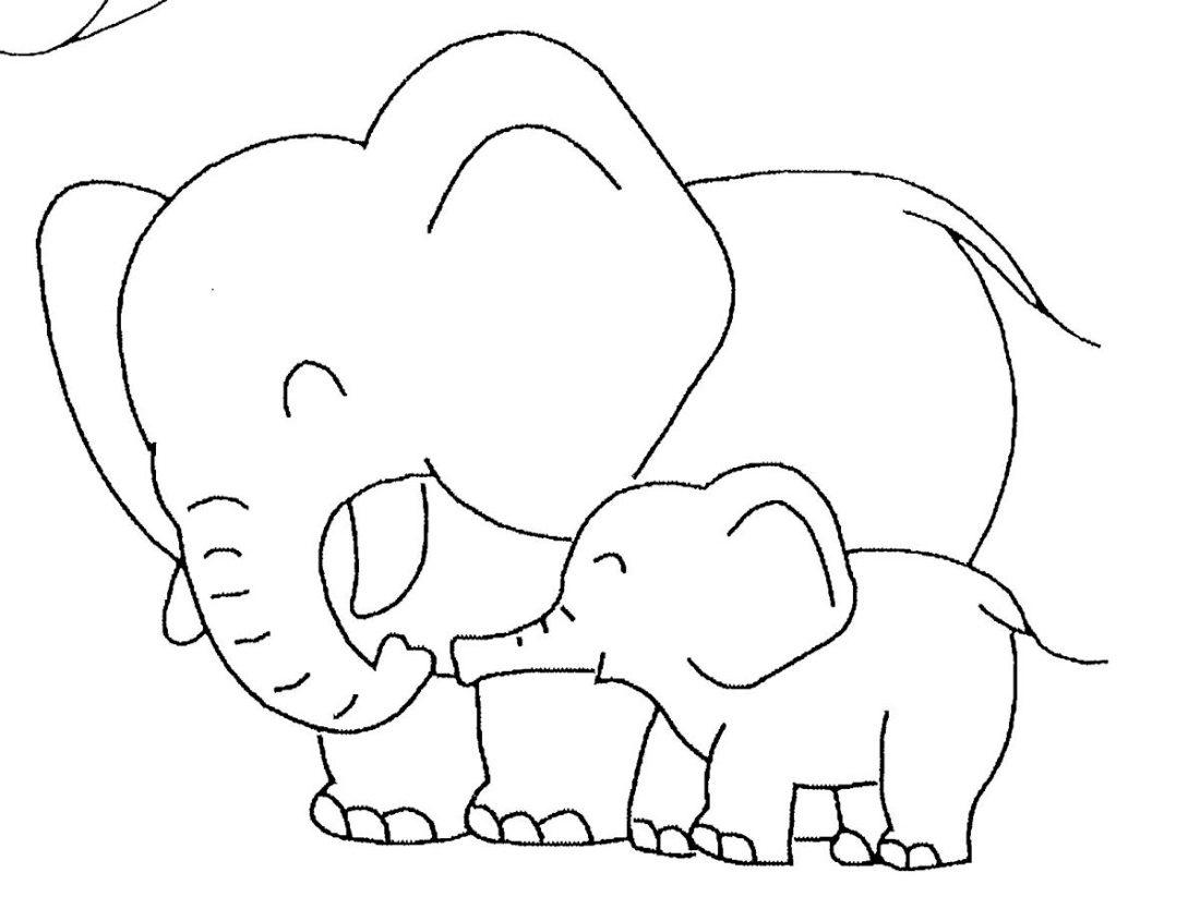 Dorable Colorear Cara De Elefante Molde - Ideas Para Colorear ...