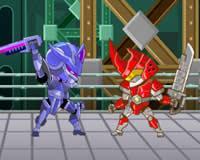 Duelo robot futurista