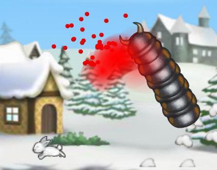 Gusano carnivoro de navidad