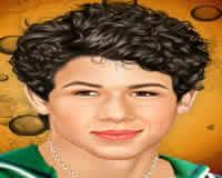 Maquilla a Nick Jonas