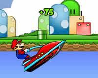 Mario en motos de agua