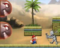 Mario en las pirámides de Egipto