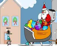 Santa vs niños