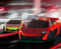 Súper carros de carrera