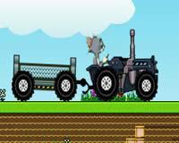 Tom y Jerry en tractores