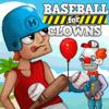 Juego de béisbol con payasos
